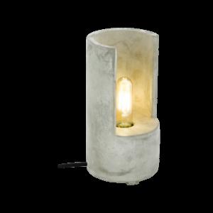 Asztali lámpa E27 1x60W 27cm beton szürke Lynton