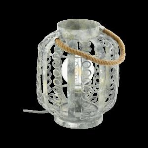 Asztali lámpa .E27 1x60W krémfehér/arany Hagley