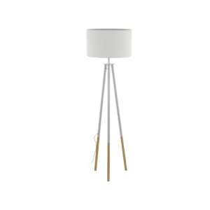 Állólámpa E27 1x60W barna/fehér Bidford