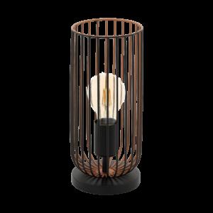 Asztali lámpa E27 1x60W fekete/réz Roccamena