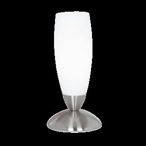 Eglo Asztali Lámpa 1*40W E14 M.nikkel/Fehér Slim