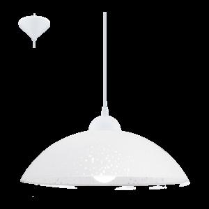 Eglo Függeszték E27 1X60W Fehér/Szat. Vetro