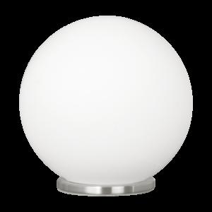 Eglo Asztali Lámpa E27 1*60W 20Cm ezüst/opál Rondo