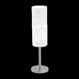 Eglo Asztali Lámpa E27 1X60Wm.nikkel/Fehéramadora
