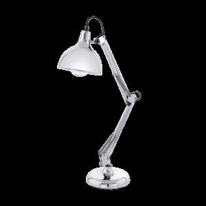 Eglo Asztali Lámpa E27 60W króm Borgillio