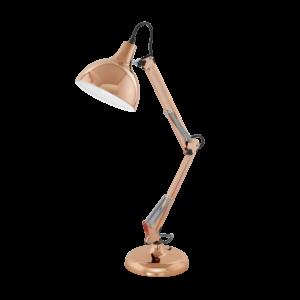 Eglo Asztali Lámpa E27 60W réz Színű Borgillio