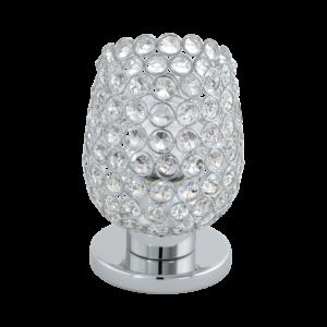 Eglo Asztali Lámpa E27 60W króm/Kristály Bonares
