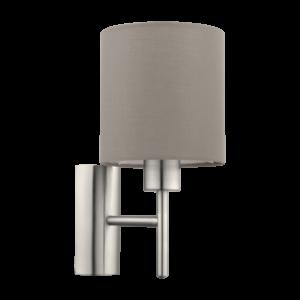 Eglo Fali Lámpa E27 60W Szürkésbarna/Mnik Pasteri