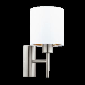 Textil Eglo Fali Lámpa E27 60W Fehér/réz Pasteri