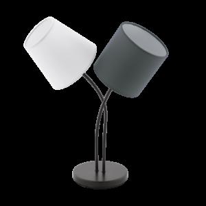 Eglo Asztali Lámpa E14 2X40Wfehér/Antracitalmeida