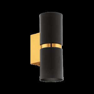 Led Eglo Fali Lámpa Gu10 2X3,3W Fekete/aranypassa