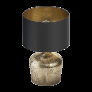 Eglo Asztali Lámpa E27 1X60W Fekete/arany Manalba