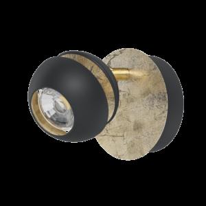 Ledeglo Fali Lámpa Gu10 1X3,3Wfekete/arany Nocito