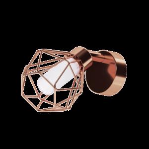 Led Eglo Fali Lámpa G9 1X2,5Wvörösréz/Fehérzapata