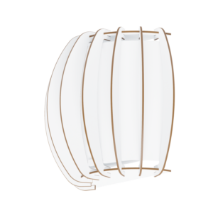 Eglo Fali Lámpa E27 1X60W Fehér Stellato2