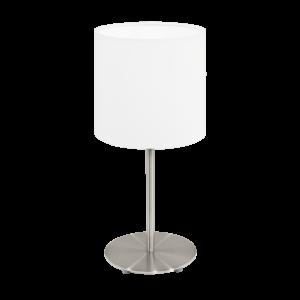 Eglo Asztali Lámpa E14 1X40W matt nikkel/Fehér Pasteri