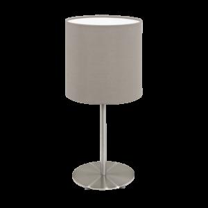 Eglo Asztali Lámpa E14 1X40W matt nikkel /Szürkésbarna pasteri