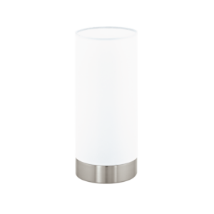 Eglo Asztali Lámpa E27 1X60W Matt nikkel/Fehér damasco