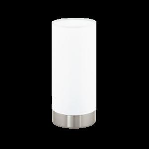 Eglo Asztali Lámpa E27 1X60W króm/Fehér Damasco