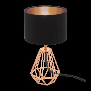 Eglo Asztali Lámpa E14 1X60Wvöréz/Fekete Carlton2