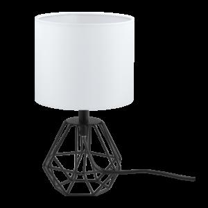 Eglo Asztali Lámpa E14 1X60Wfekete/Fehér Carlton2