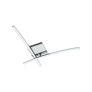 Eglo - Led Mennyezeti Ezeti 2X6W 1300Lm króm/Fehér Nevado