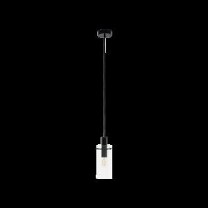 Eglo Függesztéke27 1X60W Fekete/Átl.Montefino