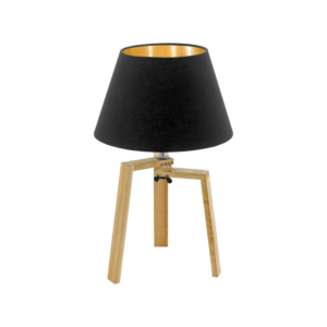 Eglo Asztali Lámpa E27 1X60Wnatúr/Fekete Chietino