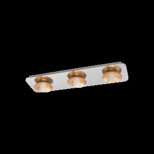 Eglo - Led Mennyezeti Ezeti 3X5,4Wkróm/arany Torano