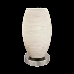 Eglo Asztali Lámpa E27 1X40W matt nikkel/ fehér batista 3
