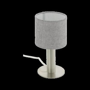 Eglo Asztali Lámpa E27 1X60W matt nikkel/szürke Concessa2