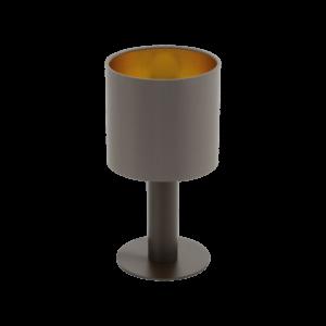 Eglo Asztali Lámpa E27 1X60W barna/Cappuc. Concessa