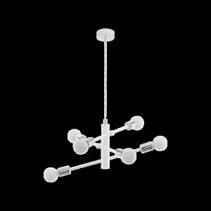 Eglo Csillár E27 6X60Wfehér/króm Gradoli