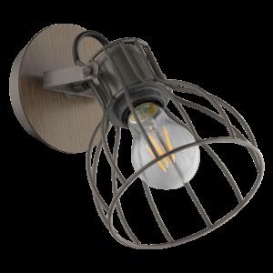 Eglo Fali Lámpa E27 40Wezüst/Sötétbarnasambatello