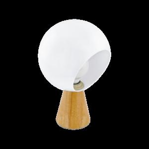 Eglo Asztali Lámpa E27 60W barna/Fehér Mamblas