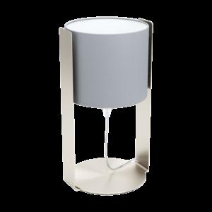 Eglo Asztali Lámpa E27 60W Mnikkel/szürke Siponto