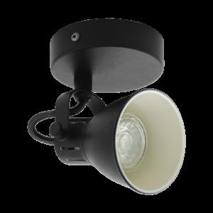 Led Eglo Fali Lámpa Gu10 1X3,3W Fekete Seras2