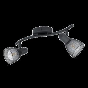 Eglo Fali Lámpa E14 2X40W Fekete Carovigno