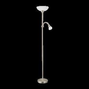 Eglo Álló Lámpa fehér E27 7W, Olv. E14 4W Led 178Cm Up5