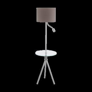 Eglo Álló Lámpa matt/nikkel E2760W+3,5W Led Policara