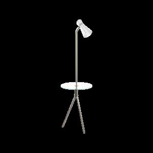Eglo Álló Lámpa E27-Led 1X10W Mnik/Fehér Policara