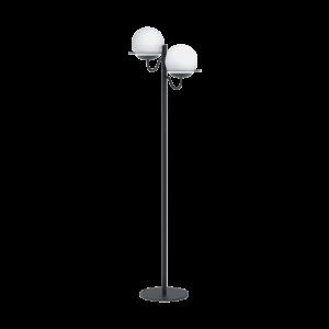 Eglo Álló Lámpa E27 2X40Wfekete/opálsabalete