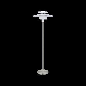 Eglo Álló Lámpa E27 60W Fehér/Mnikkel Brenda