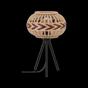 Eglo Asztali lámpa E27 1x40W natúr Dondarrion