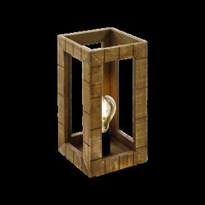 Asztali lámpa E27 60W fekete/barna Takhira