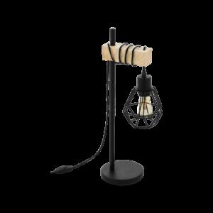 Asztali lámpa E27 60W fekete/tölgyTownshend5