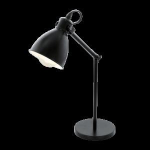 Asztali lámpa E27 40W fekete Priddy