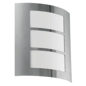 Eglo-Kültériéri fali lámpa 1x60W E27 nemesacél City