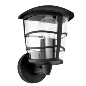 Eglo-Kültéri fali lámpa felfelé néző E27 60W feke IP44 Aloria