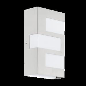 Eglo - Kültéri fali lámpa 3x2,5W nemesacél/fehér Ralora